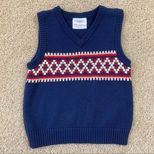Hanna Andersson Boys Sweater Vest Size 90 3T D